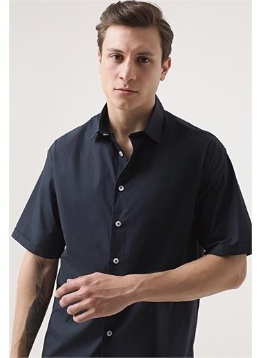 Tween Tween Oversize Siyah Düz Gömlek Lacivert
